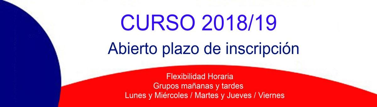 curso 2018 19 inscripcion